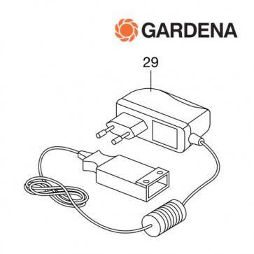 Gardena oplader t.b.v. 8025, 8840, 8841, 8873, 8878, 8882, 8865, 9333