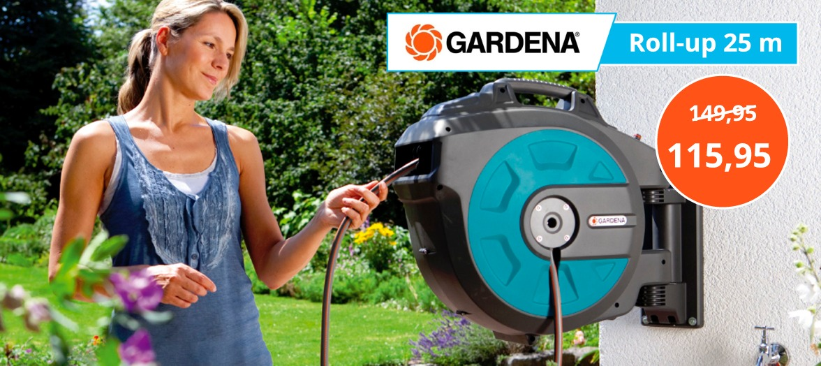 Gardena wandslangenbox aanbieding